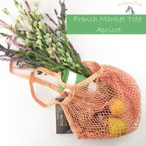Handbags - French Market Tote/Beach Carry All Gym Bag~Apricot